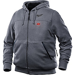 Milwaukee Tool Men's Medium M12 12-Volt Lithium-Ion Cordless Gray Heated Hoodie Kit w/ 2.0Ah Battery & Charger