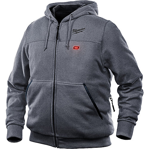 Men's 2X-Large M12 12V Lithium-Ion Cordless Gray Heated Hoodie Kit w/ 1.5Ah Battery & Charger