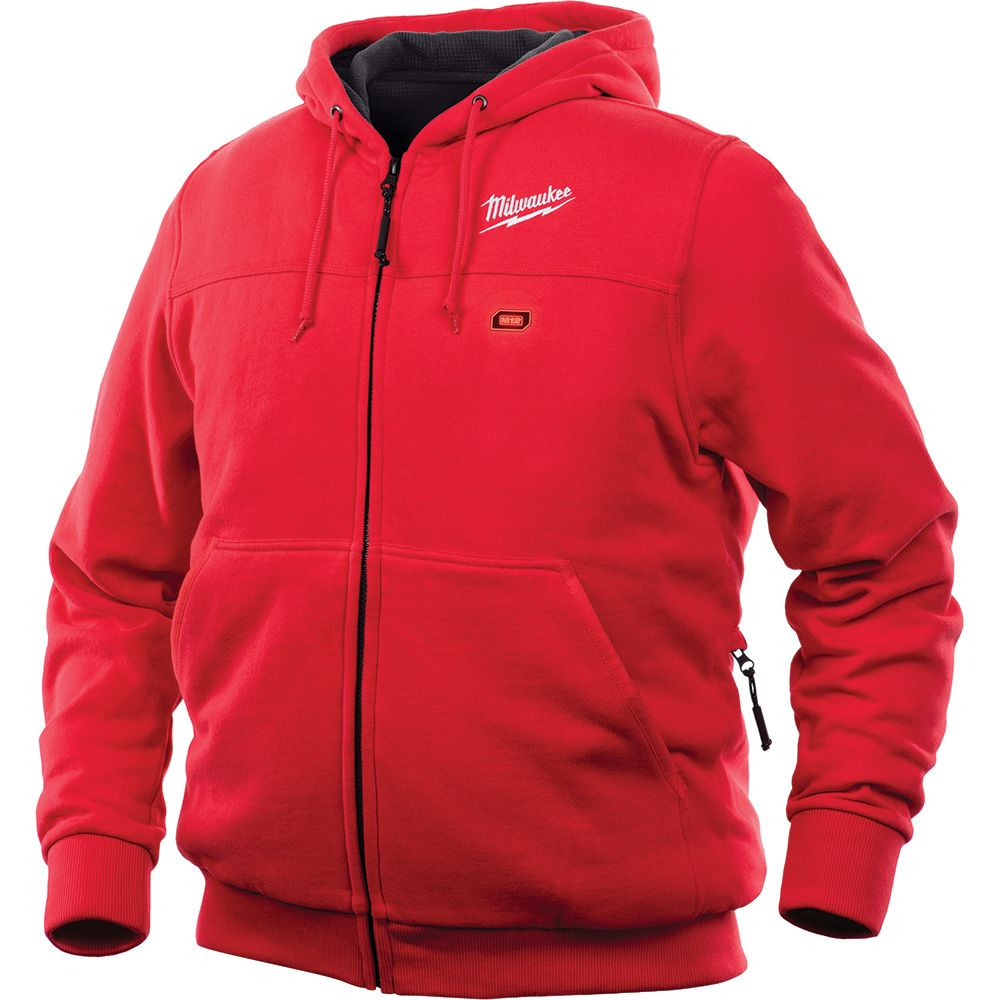Milwaukee Tool Men's 2X-Large M12 12-Volt Lithium-Ion Cordless Red Heated Hoodie (Tool Only)