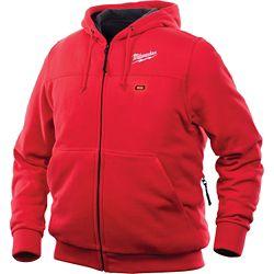 Milwaukee Tool Sweat à capuche 3X-Large M12 12V rouge à capuche sans fil au lithium-ion pour homme (veste seulement)