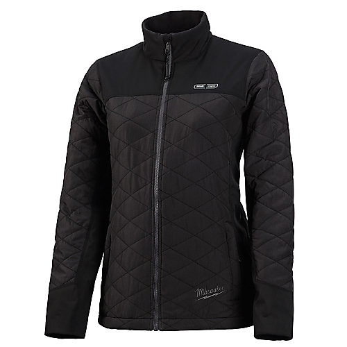 Women's Large M12 12V Lithium-Ion Cordless AXIS Black Heated Quilted Jacket (Jacket Only)