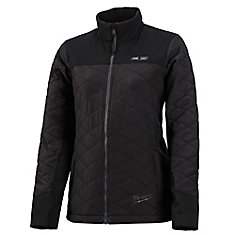 Women's Large M12 12V 12V Lithium-Ion sans fil AXIS Black Heated Quilted Jacket (outil seulement)