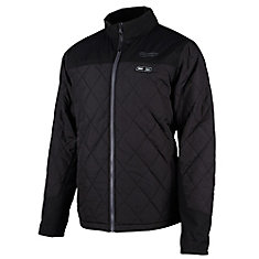 Hommes Medium M12 12V 12V Lithium-Ion sans fil AXIS Black Heated Quilted Jacket (Outil seulement)