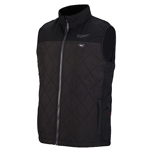 Men's Large M12 12V Lithium-Ion Cordless AXIS Black Heated Quilted Vest (Jacket Only)