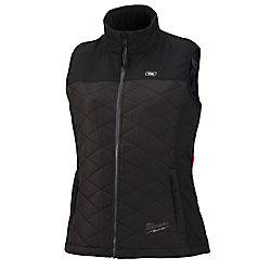 Milwaukee Tool Women's 2X-Large M12 12V Lithium-Ion Cordless AXIS Black Heated Quilted Vest (Jacket Only)