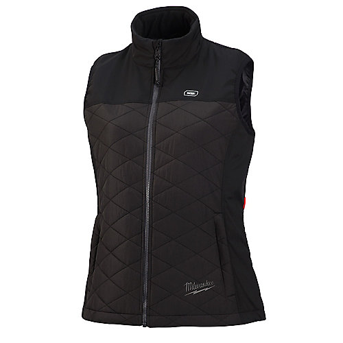 Women's Medium M12 12V Lithium-Ion Cordless AXIS Black Heated Quilted Vest (Jacket Only)