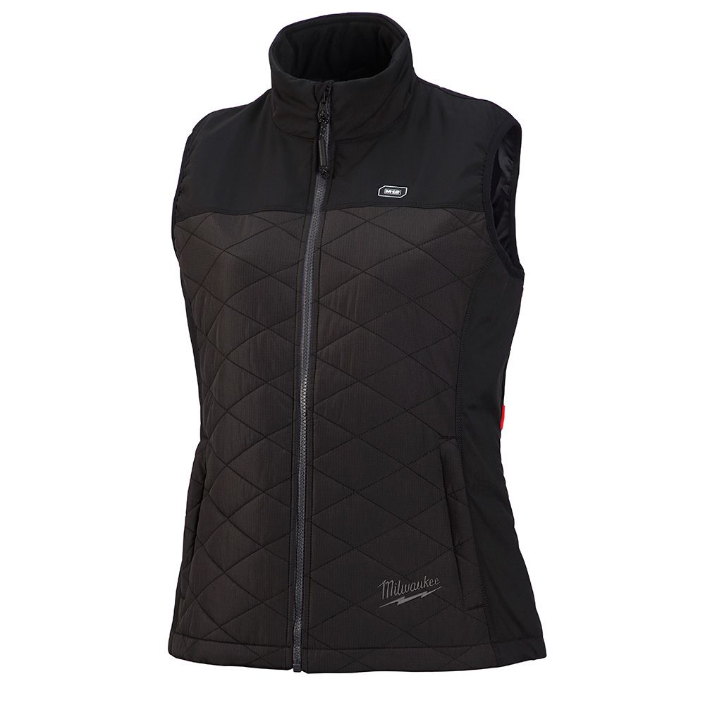 Milwaukee Tool Women's 2X-Large M12 12-Volt Lithium-Ion Cordless AXIS Black Heated Quilted Vest (Tool Only)