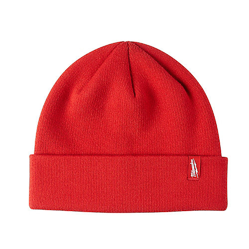 Men's Red Fleece Lined Cuffed Knit Hat