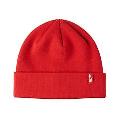 Bonnet à ourlet en tricot doublé de molleton pour hommes, rouge