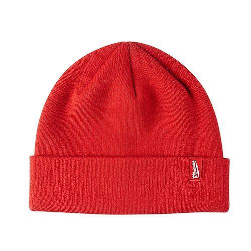 Milwaukee Tool Men's Red Fleece Lined Cuffed Knit Hat