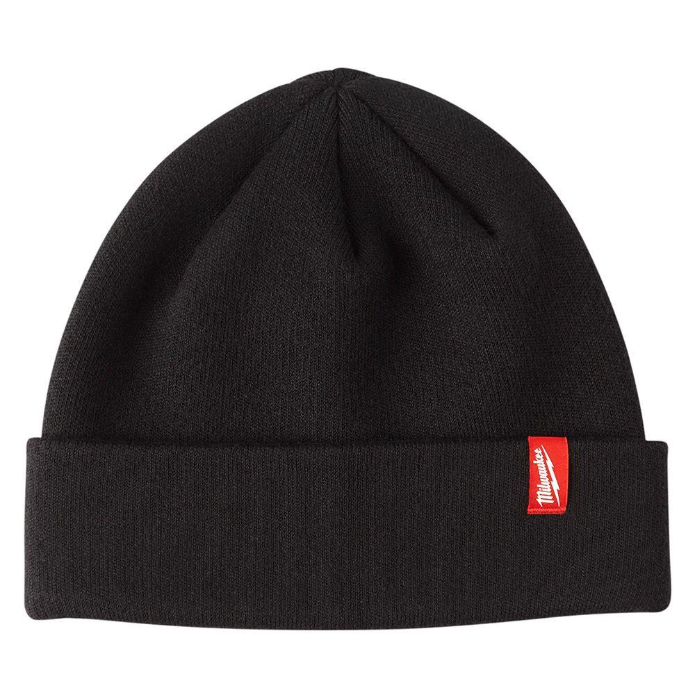 Milwaukee Tool Men's Black Fleece Lined Cuffed Knit Hat