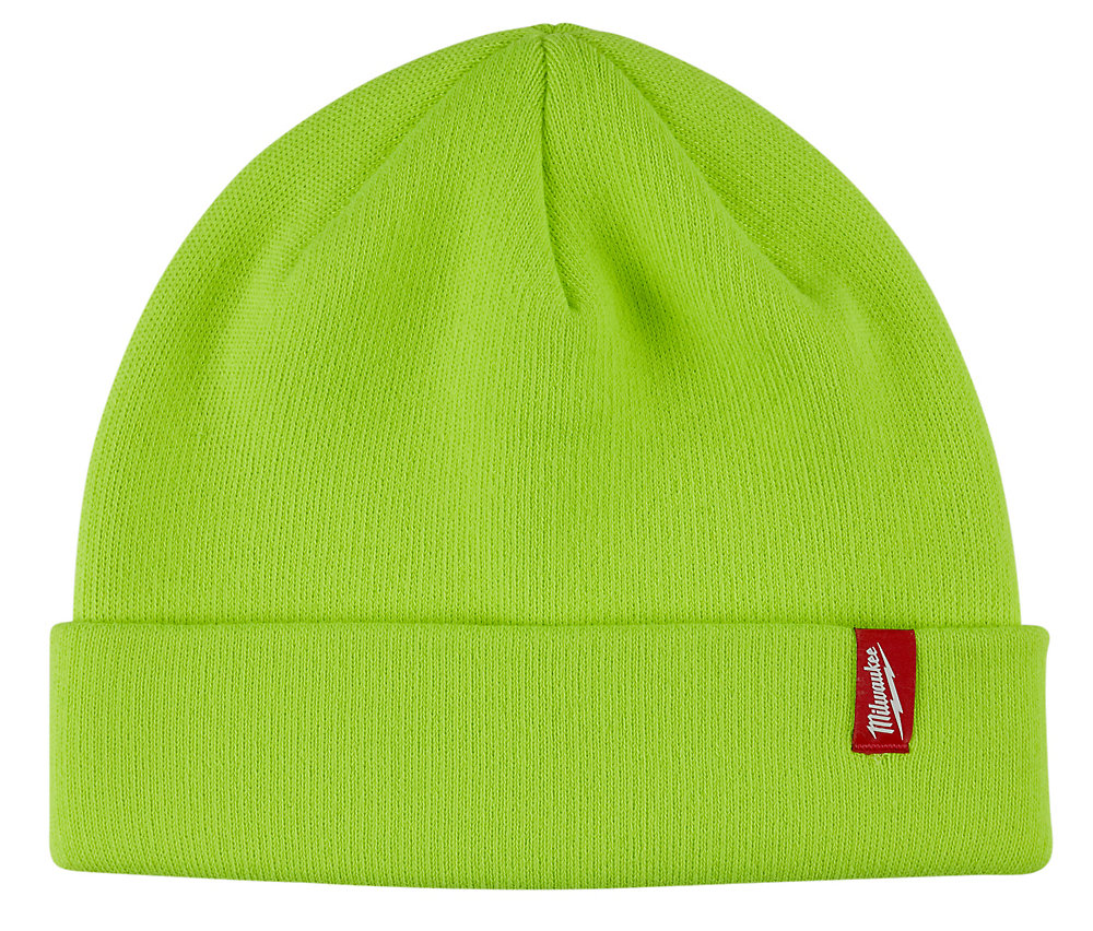 669b344a071419 Milwaukee Tool Men's High-Visibility Fleece Lined Cuffed Knit Hat ...