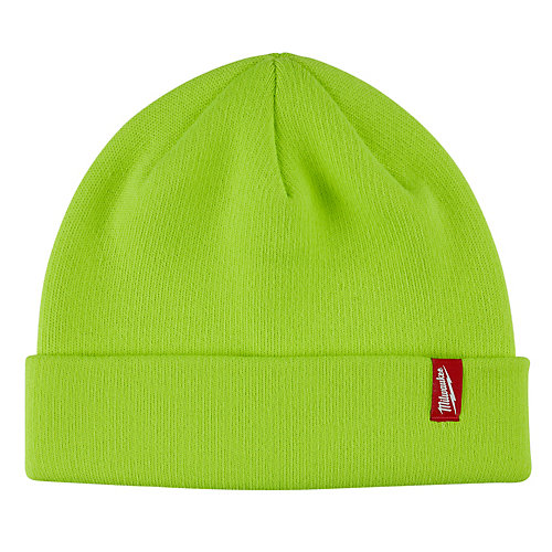 Men's High-Visibility Fleece Lined Cuffed Knit Hat