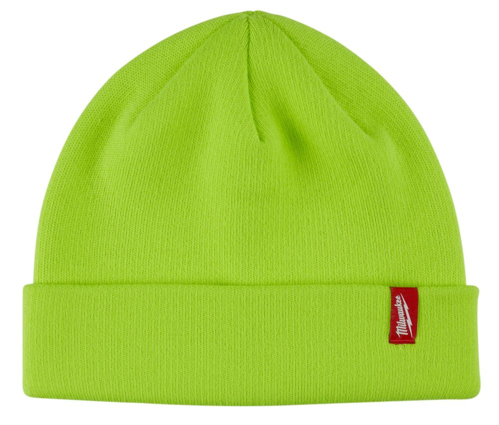 Milwaukee Tool Men's High-Visibility Fleece Lined Cuffed Knit Hat