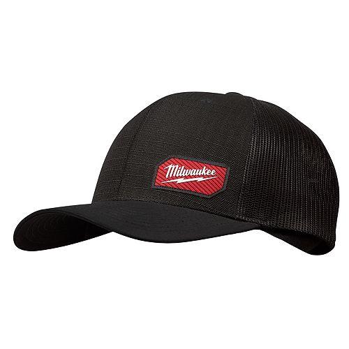 Black GRIDIRON Trucker Hat - Adjustable Fit