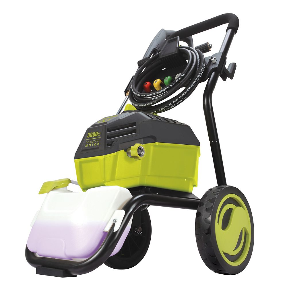 Sun Joe 3000 PSI 5 LPM High Performance Induction Motor Electric Pressure Washer with Roll Cage