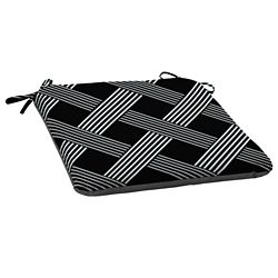 Hampton Bay Black Lattice Seat Cushion