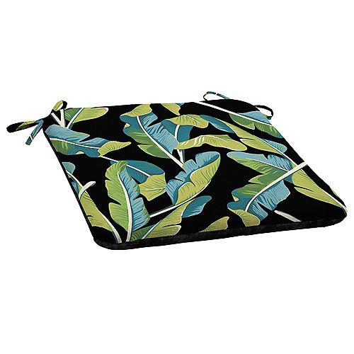Hampton Bay Banana Leaf Tropical Patio Seat Cushion