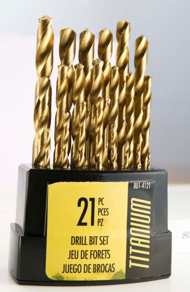 Fuller 21-Piece Titanium Drill Bit Set