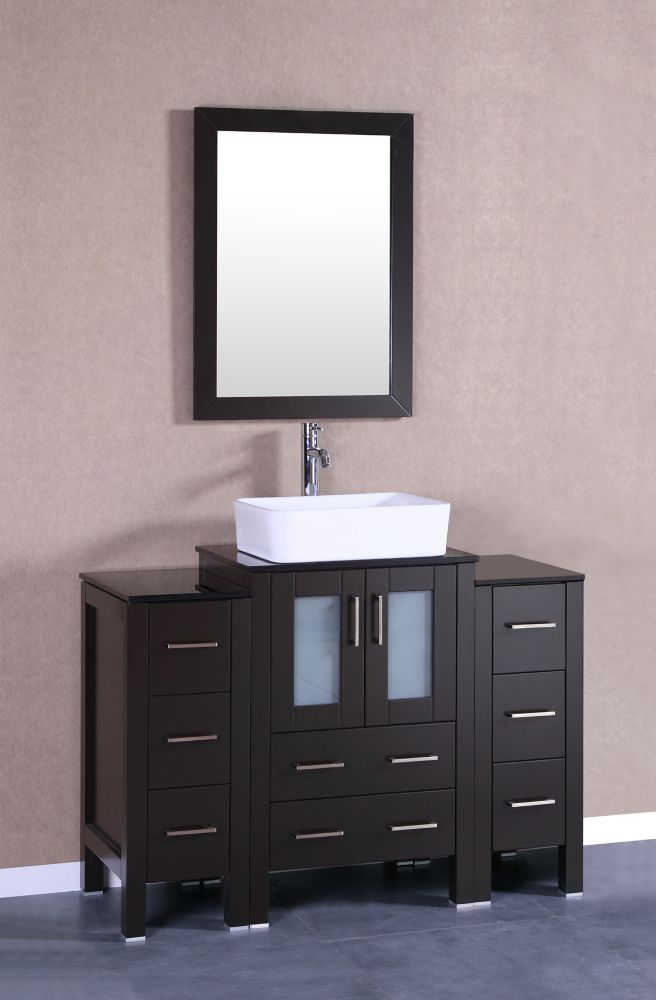 Bosconi 48 inch W x 18 inch D Bath Vanity in Espresso with ...