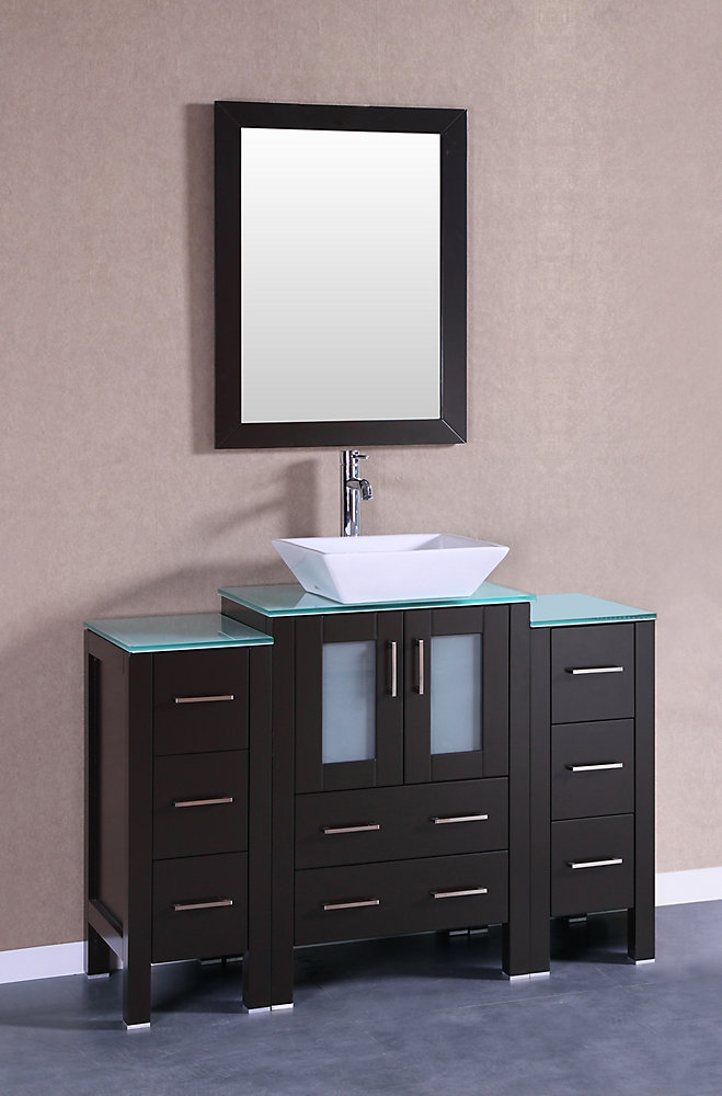 Bosconi 48 inch W x 18 inch D Bath Vanity in Espresso with ...