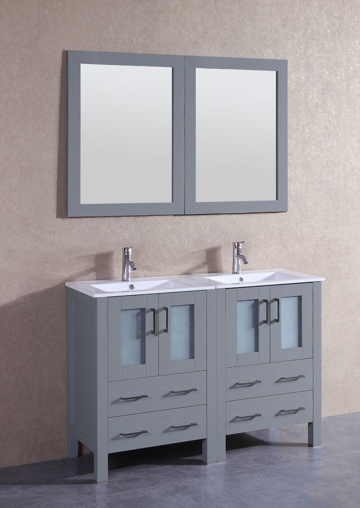 Inch W X 19 D Bath Vanity In Gray