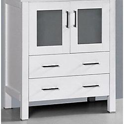 Bosconi 29 inch W x 18 inch D Bath Vanity in White