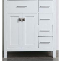 Bosconi 30 inch W x 22 inch D Bath Vanity in White