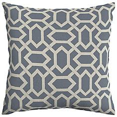CushionGuard Midnight Geo Square Throw Pillow