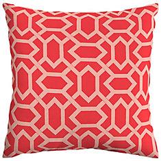CushionGuard Ruby Geo Square Throw Pillow