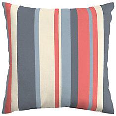 CushionGuard Ruby Stripe Square Throw Pillow