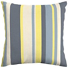 CushionGuard Yellow Stripe Square Throw Pillow