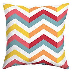 Geo Multi Chevron Square Throw Pillow