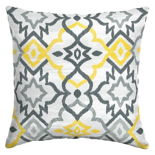 Hampton Bay Keith Trellis Square Throw Pillow