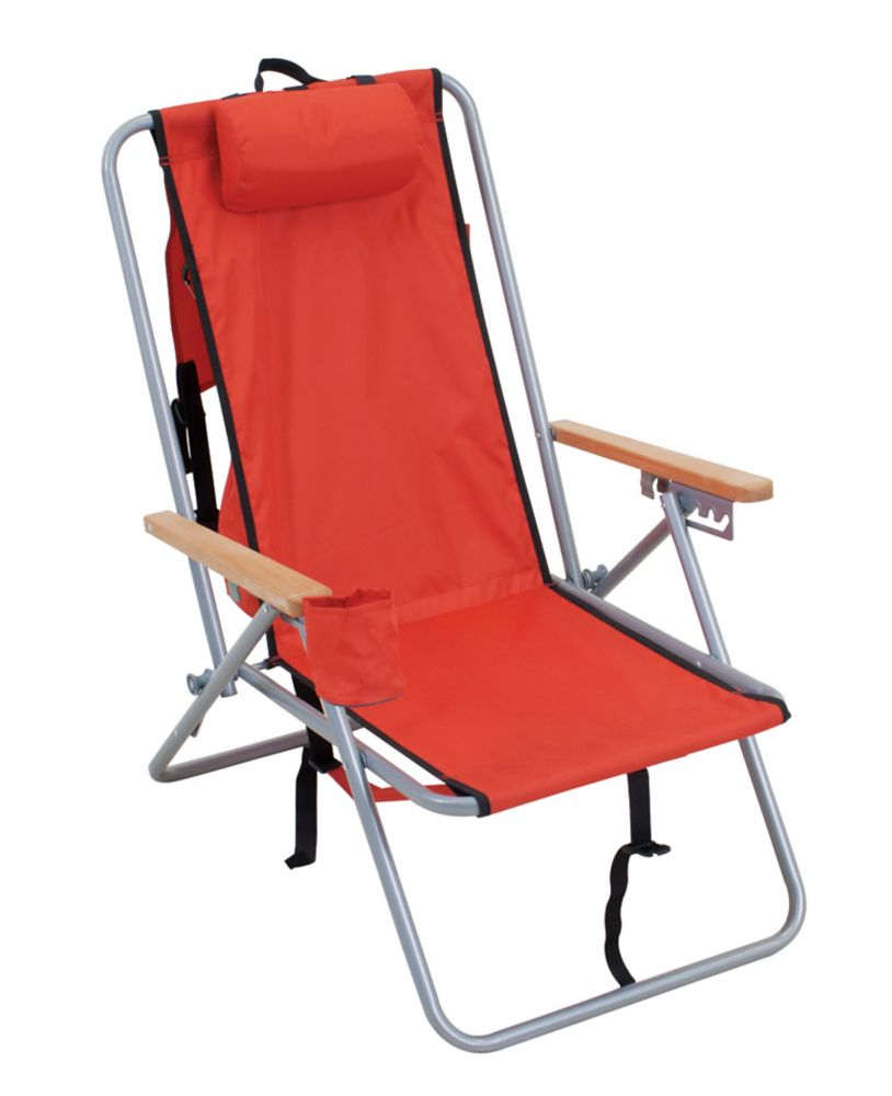 RIO Brands Stl. Backpack Chair - Red