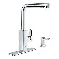 Tallinn Single-Handle Pull-Out Spray Kitchen Faucet in Chrome finish