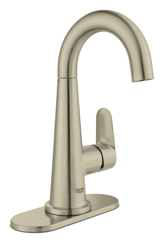GROHE Veletto Single Handle Centerset Bathroom Faucet in Brushed Nickel finish