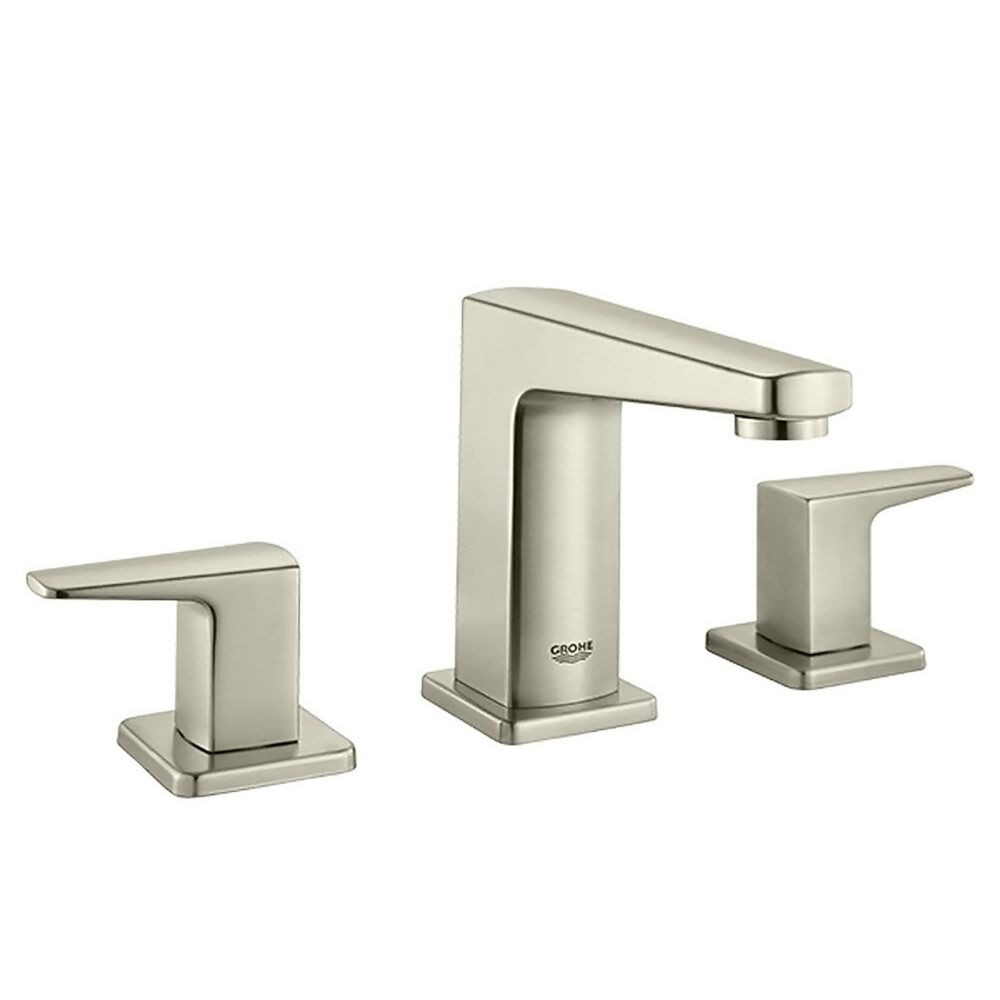 Grohe tallinn 8 inch widespread two handle bathroom faucet - 8 inch brushed nickel bathroom faucet ...