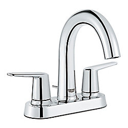 GROHE Veletto 4 inch Centerset Two-Handle High-Spout Bathroom Faucet in Chrome finish