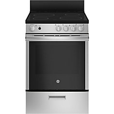 24-inch 2.9 cu.ft Single Oven Electric Range Oven with Self Cleaning in Stainless Steel