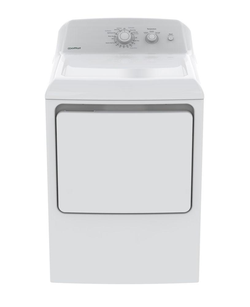 Moffat 6.2 cu ft.capacity DuraDrum electric dryer - White