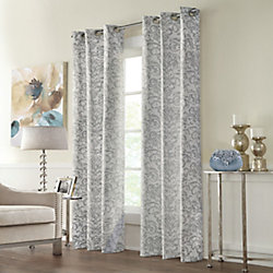 Home Decorators Collection Constance Room Darkening Grommet Curtain 40 inches width X 95 inches length, Grey