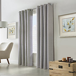 Home Decorators Collection Blake Blackout Grommet Curtain 52 inches width X 95 inches length, Silver