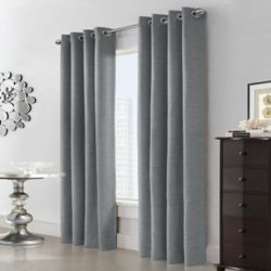 Home Decorators Collection Carnavon Tribal Room Darkening Woven Blackout Grommet 52x63 Grey