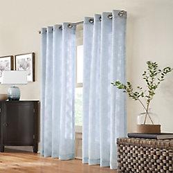 Home Decorators Collection Cordelia Mist Sheer Clip Jaquard 52x108 Light Blue