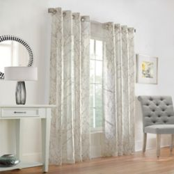 HDC Willow Sheer Grommet Curtain 52 inches width X 108 inches length, Taupe