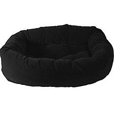 Donut Pet Bed 34 inchx24 inchx 8 inch Black