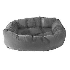 Donut Pet Bed 34 inchx24 inchx 8 inch Grey