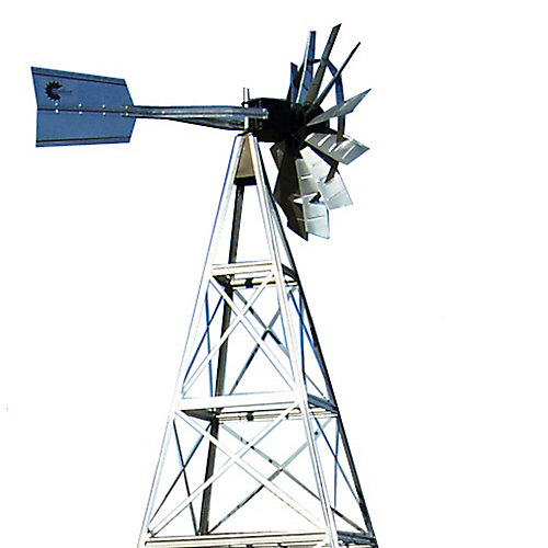12 ft. 4 Legged Galvanized Steel Windmill Aeration System