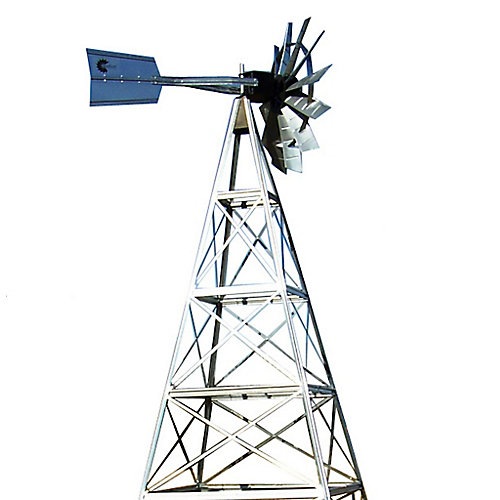 16 ft. 4 Legged Galvanized Steel Windmill Aeration System